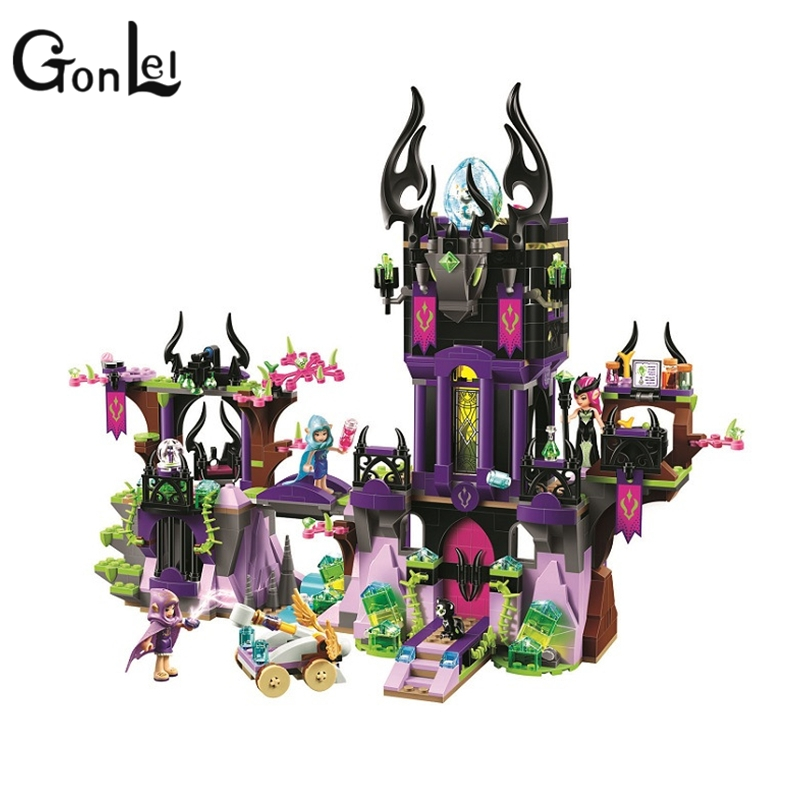 GonLeI 10551 BELA Elves Series Ragana's Magic Shadow Castle Model Building Blocks Enlighten Toys Children Compatible Legoings friends girl elves ragana s magic shadow castle model building blocks bricks toy children toys compatible with lego gift kid set