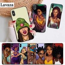 Lavaza Black Girl Cartoon Coque Silicone Case for iPhone 5 5S 6 6S Plus 7 8 11 Pro X XS Max XR