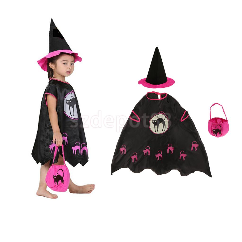 Halloween Adult Kids Girls Toddler Witch Costume Party Fancy Dress Outfits