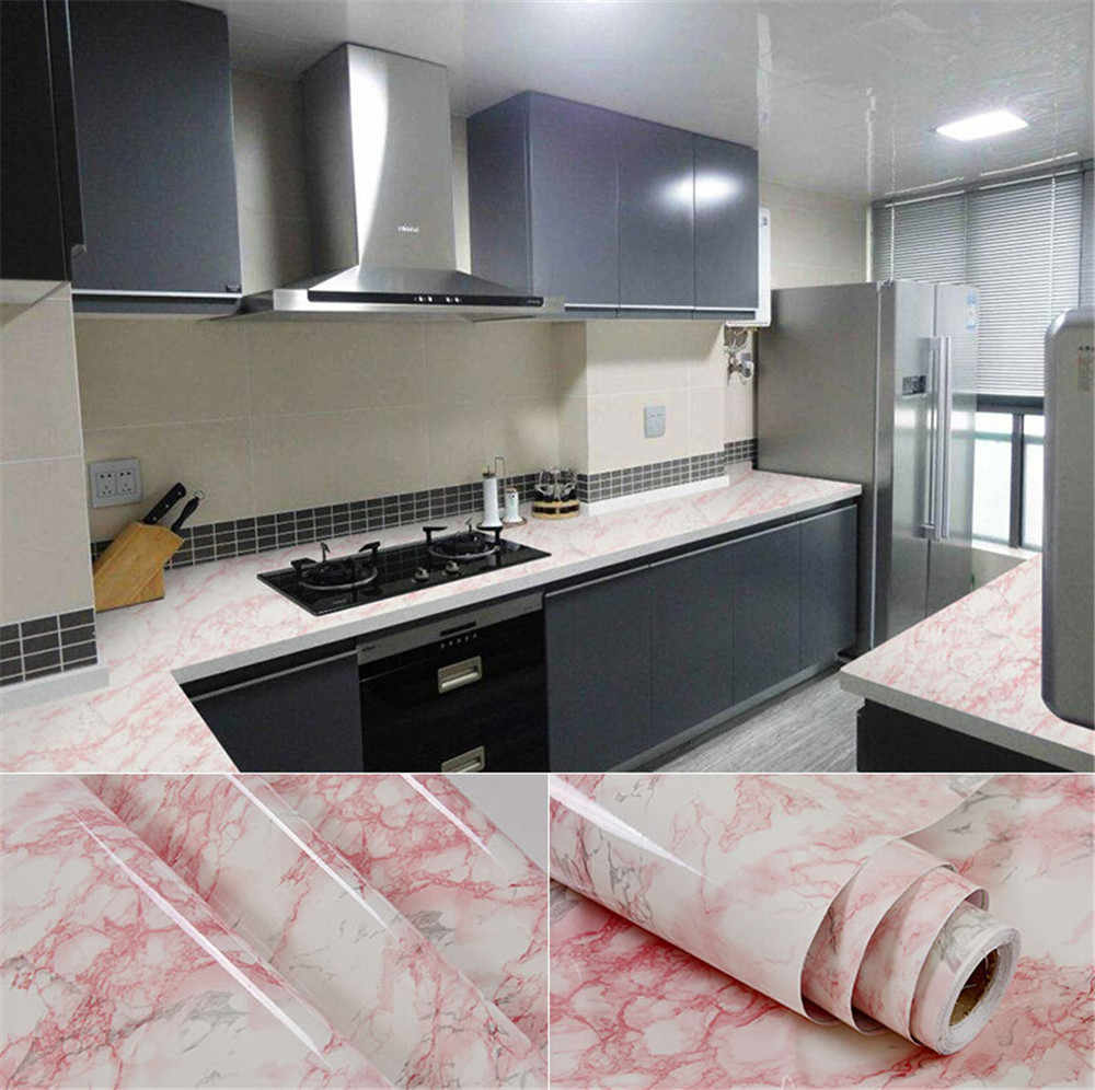 Marble Waterproof Vinyl Self Adhesive Wallpaper Modern Contact Paper Kitchen Cupboard Shelf Drawer Liner Wall Stickers12 X 48 Shelf Drawer Liner Shelf Contact Paperwall Paper Wall Aliexpress