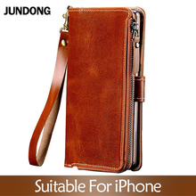 цена Flip Phone Cases For iPhone 6 7 8 Plus X Xs Max Case Multifunction Wallet Phone Bag Cover For iPhone 6 6S plus 6p 7p 8p Purse