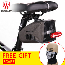 WHEEL UP New Full Waterproof  Large Capactity Reflrctive MTB Mountain Bike Bicycle Saddle Bag Professional Bike Accessories