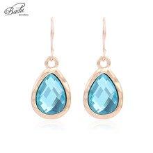 Badu Waterdrop Crystal Pendant Earrings for Women Wedding Engagement Jewelry Simple Elegance Earring Wholesale