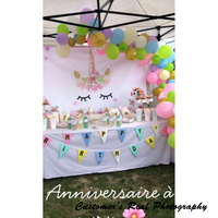 Laeacco Unicorn Party Flower Birthday Baby Newborn Photography Backgrounds Customized Photographic Backdrops For Photo Studio 4