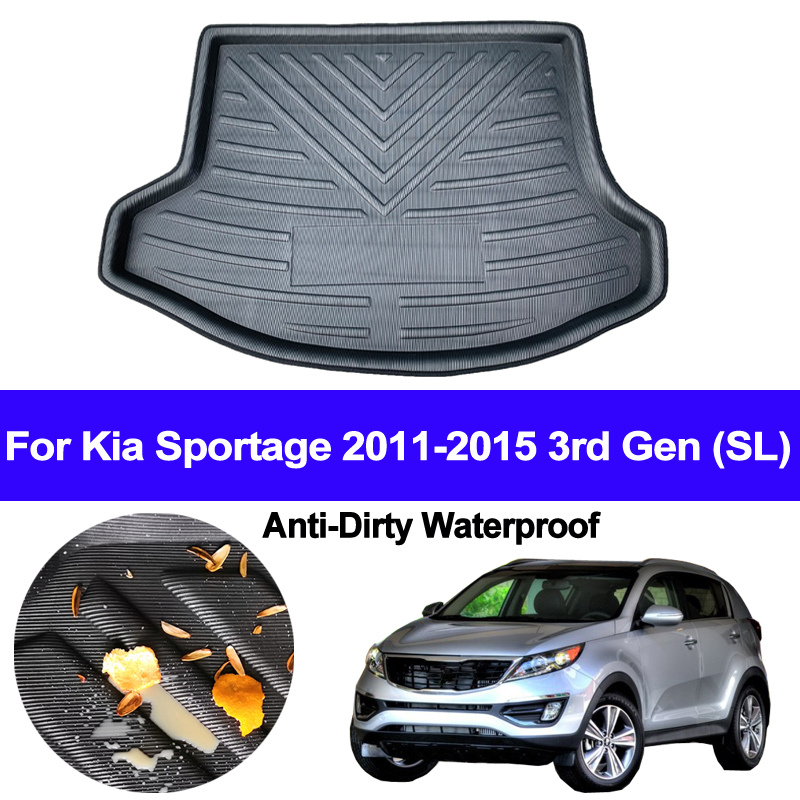 Rear Boot Cargo Liner Tray Trunk Luggage Floor Carpet Mats Carpets Pad For Kia Sportage 2011 2012 2013 2014 2015 3rd Gen (SL)