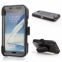 Hybrid Shockproof Zware Case voor Samsung Galaxy Note 2 Full Body Dekking Cover Met ingebouwde Screen Protector Riemclip