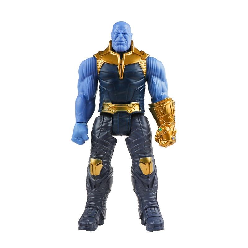 30 см Marvel Мстители эндшпиль танос Человек-паук Халк Железный человек Капитан Америка Тор Росомаха Веном Фигурка Игрушки Кукла Детская - Цвет: Thanos no box
