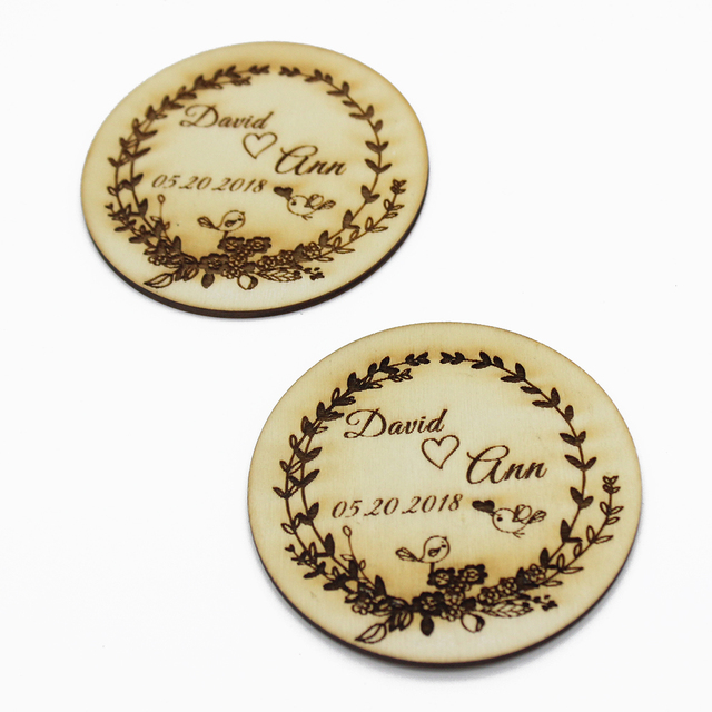 Set Of 8 Personalized Best Gifts For Couple Wedding Gift Coasters Wooden Party Drink Coaster
