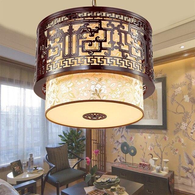 Nordic Style Wood Vintage Loft Lamp 110v 220v E27 Modern Chandeliers China Sheepskin