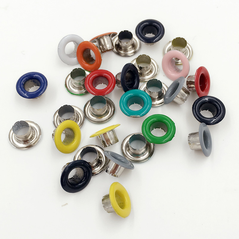 200pieces lot DIY materials color spray gas Eyelets rivets Corn Color buttonholes Multicolor buckle Shoelaces eye in Garment Eyelets from Home Garden