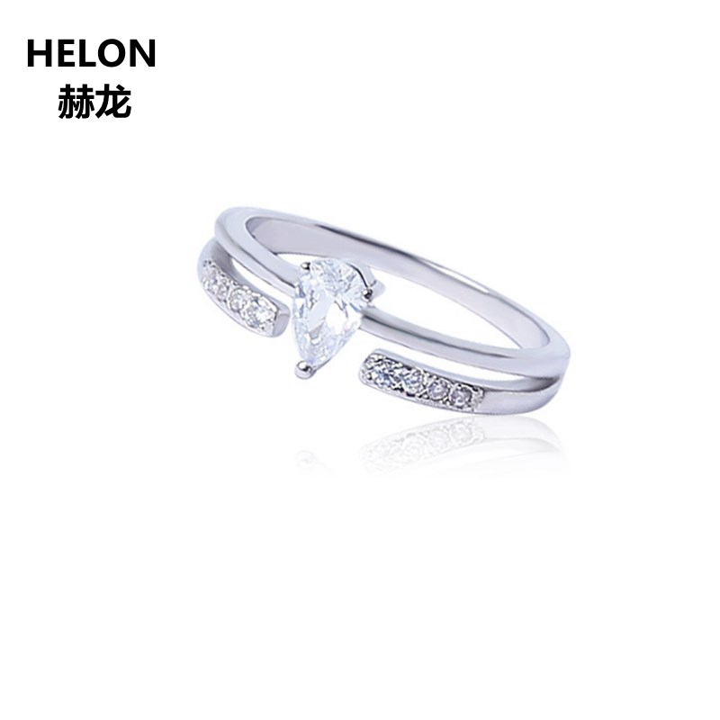 Solid 14k White Gold Pear Ring Engagement Wedding Ring for Women AAA Graded Cubic Zirconia CZ Valentine Graduation Jewelry GiftSolid 14k White Gold Pear Ring Engagement Wedding Ring for Women AAA Graded Cubic Zirconia CZ Valentine Graduation Jewelry Gift