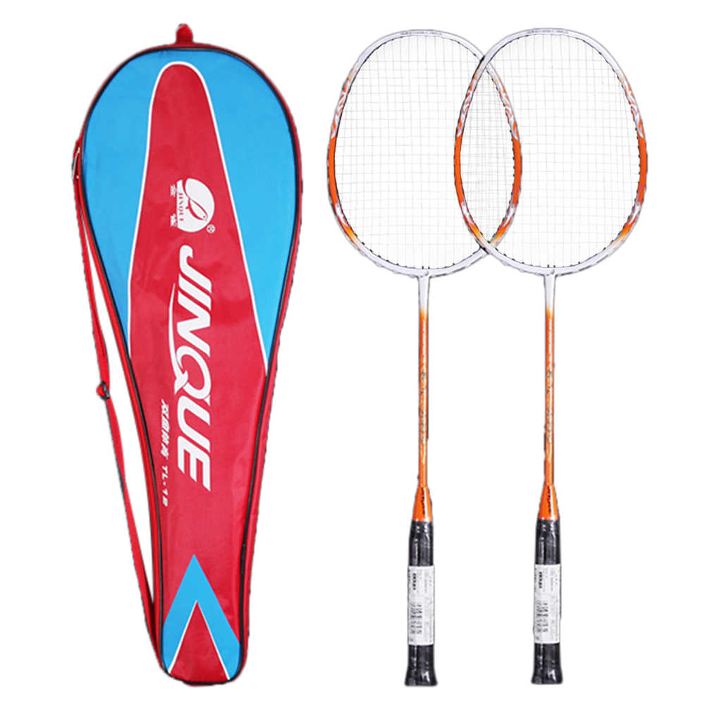 NEW Professional Training 2 Player Badminton Racket Replacement Set Lightweight Carbon Badminton Racquet with Racket Cover Bag