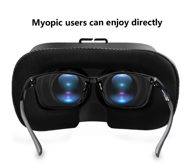 All IN ONE VR Glasses VR CASE RKA1 VR Headset Virtual Reality Glasses for 4-5.8 inches iPhone Mobile 3D IMAX Touch Control Blue 17