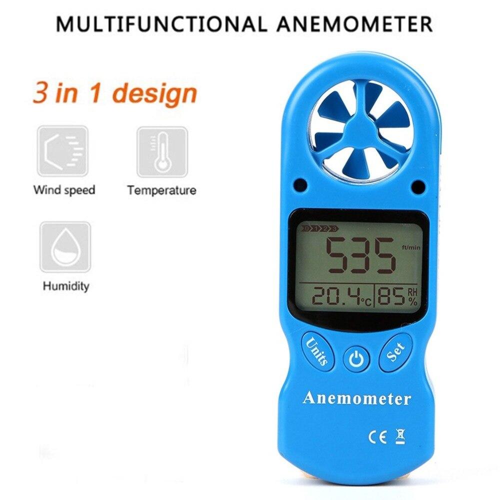 Mini Multipurpose Digital Anemometer with LCD Display Used as Wind Speed Meter 2