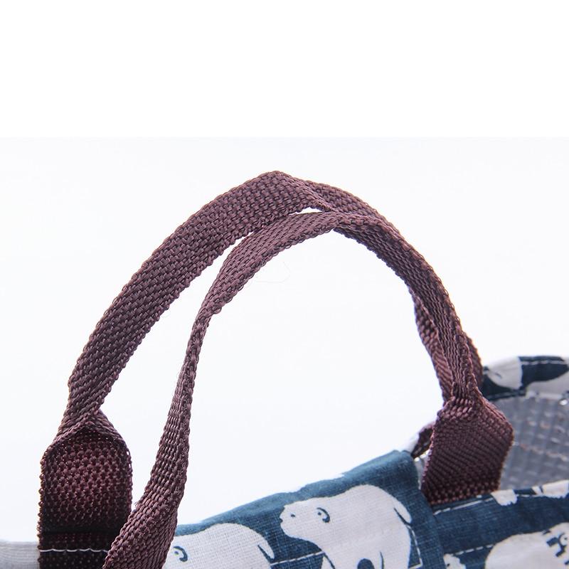 IUX Cute Animal Printed Female Shopping Tote Bag Big Canvas Handbag - Պայուսակներ - Լուսանկար 6