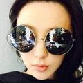 Nuevo Retro Vintage de lujo caliente del verano Hippie Hippy Shades Lennon estilo gafas de sol redondas Steampunk Grunge galsses