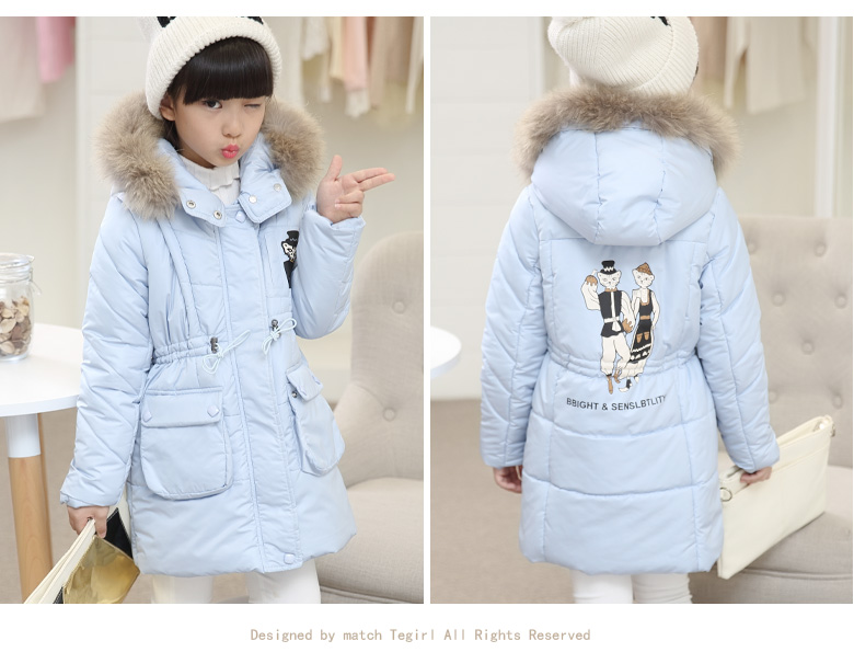 2017 Winter Thicken Warm Clothes Children Clothing Girls In Winter Coat Jackets Kids Long Style Warm Really Maoulen Jacket Coats boys fleece jackets solid coat kid clothes winter coats 2017 fashion children clothing