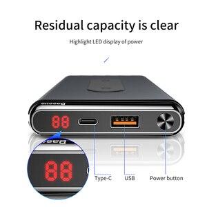 Image 4 - Baseus 10000mAh szybkie ładowanie 3.0 Power Bank przenośna USB C PD szybka bezprzewodowa ładowarka Qi Powerbank dla Xiaomi mi zewnętrzna bateria