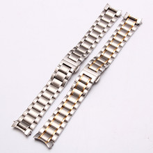 Watch stainless steel strap for five beads solid arc mouth 19mm double butterfly clasp 20mm gold 21 mm.