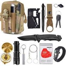 13 in 1 survival Gear kit Set Outdoor Camping Travel Surviva
