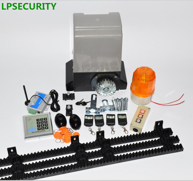 AC motor 6m or 7m nylon racks 800kg automatic sliding gate opener motor with 4 remote controls with optional parts