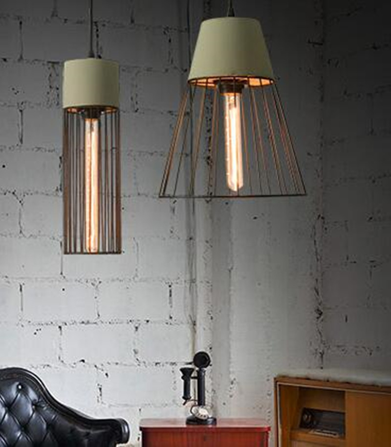 new arrival vintage iron and concrete pendent lights retro loft lamps for dining room bar creative decor lights N1258 цена и фото