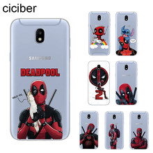 Ciciber DC Marvel Deadpool โทรศัพท์กรณีสำหรับ Samsung Galaxy J 8 7 6 5 4 3 2 Pro Core Plus prime mini 2016 2017 2018 ฝาครอบ Soft TPU(China)