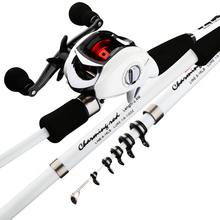 ultealight carbon rod combo squid bait casting fishing rod with portable telescopic travel rod boat fishing stick for bass carp