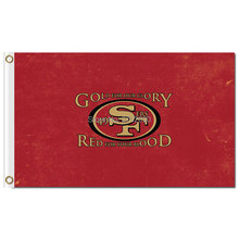 San Francisco 49ers Flags Red Banner 3X5ft Cubs Supper 2016 World Series Football Team Flag San Francisco 49ers Flag