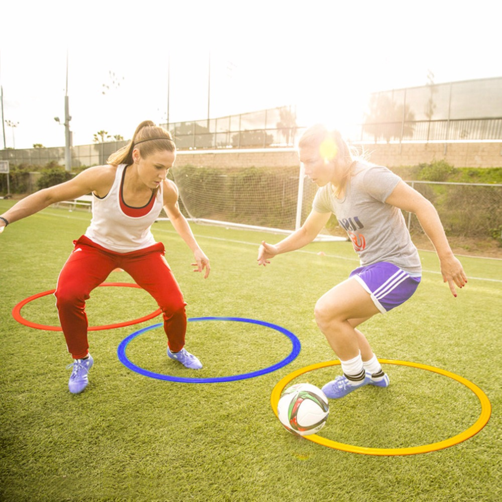1 Pcs/ Set 50cm Soccer Speed Agility Rings ABS Sensitive Football Training Equipment Pace Lap Football Soccer Set Accessories