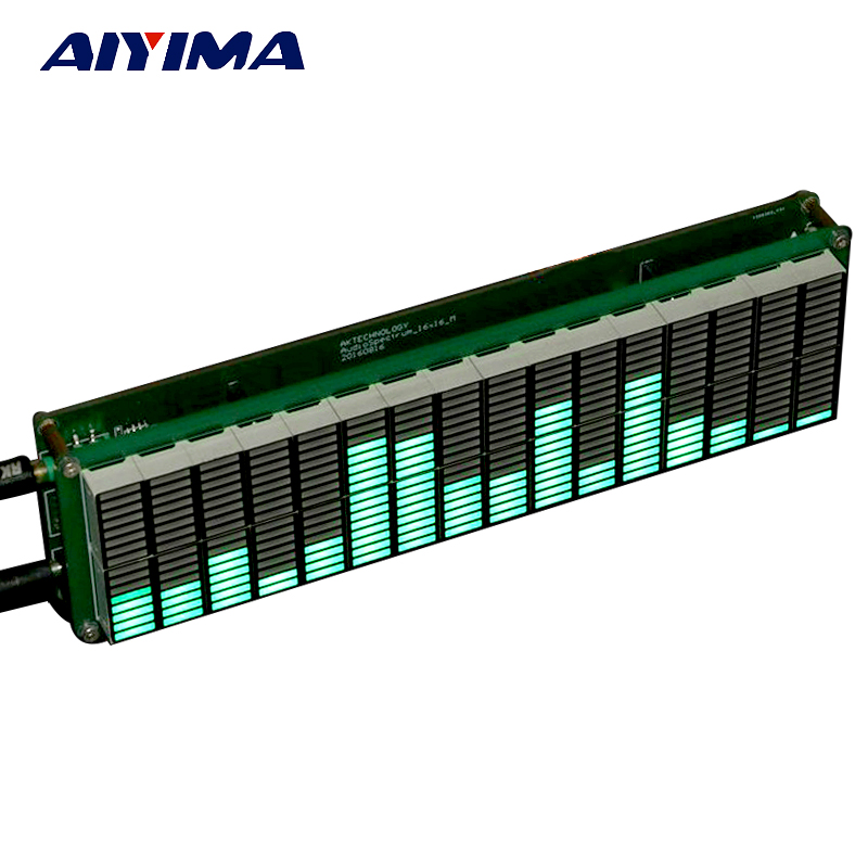 Aiyima LED Audio Spectrum indicator 16 level Music Amplifier Board Speed Adjustable With AGC Mode Green Color For DIY автомобильный держатель deppa crab vogue черный