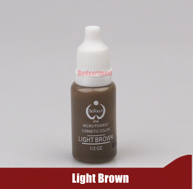 1 Piece Light Brown Color Tattoo Ink Set Permanent Makeup Pigment 15ml Eyebrow Embroidery Tattoo Makeup Pigment
