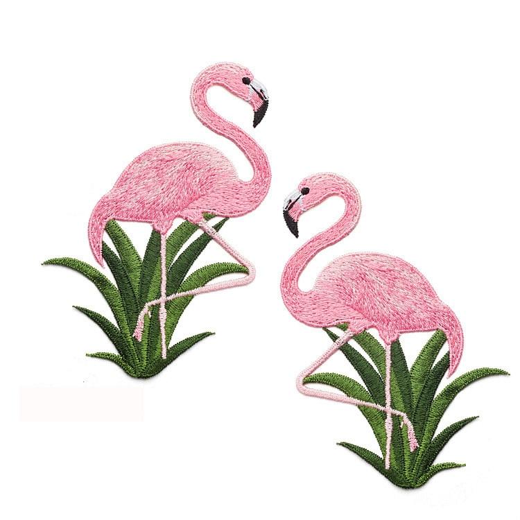 4 Stks / set Flamingo Patches Voor Kleding Tas Sticker Naaien - Kunsten, ambachten en naaien