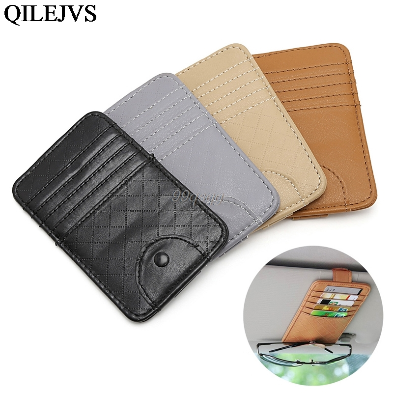 Car Auto Sun Visor Point Pocket Organizer Pouch Bag Card Glasses Storage Holder Drop shipping цена