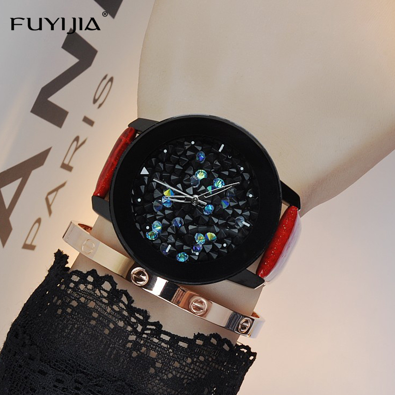 2018 New FUYIJIA Simple watches ladies quartz watches fashion stars women dress watch brand waterproof belt bracelet watch Lady цена
