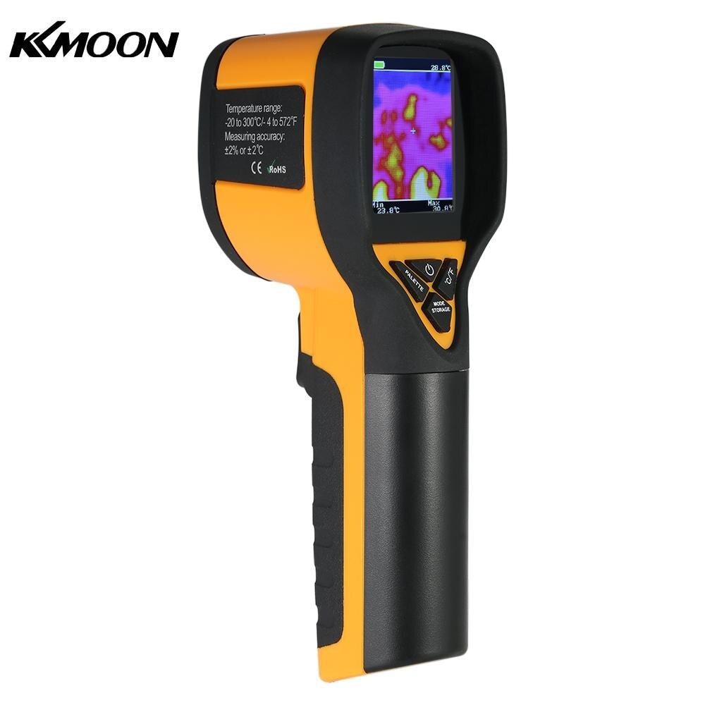 Профессиональный Термальность imager мини ЖК-дисплей цифровой пирометр Ручной ИК Термальность изображений Камера инфракрасный термометр-20-300...