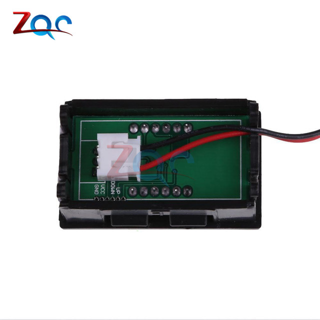 DC 5-120V 2 fils 0.56 Mini LED voltmètre numérique voltmètre voltmètre Volt détecteur testeur moniteur pour véhicule voiture Auto 36V 24V 48V