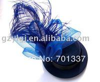 Gros fascinator, Danse, Courses, Mariages, Chapeau de fête costume bleu fleur cheveux HatH22