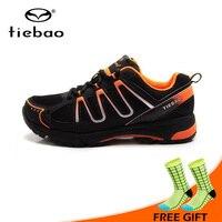 Tiebao Fiets Schoenen Ademend Athlitic Schoenen MTB zelfsluitende Fiets Schoenen Berg Fietsen Schoenen Zapatillas Ciclismo-in Wielersport schoenen van sport & Entertainment op