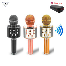 Wireless Bluetooth Karaoke Microphone 4 in 1 Portable Karaoke Machine Speaker Party travel Birthday gift for Android/iPhone/PC цена и фото