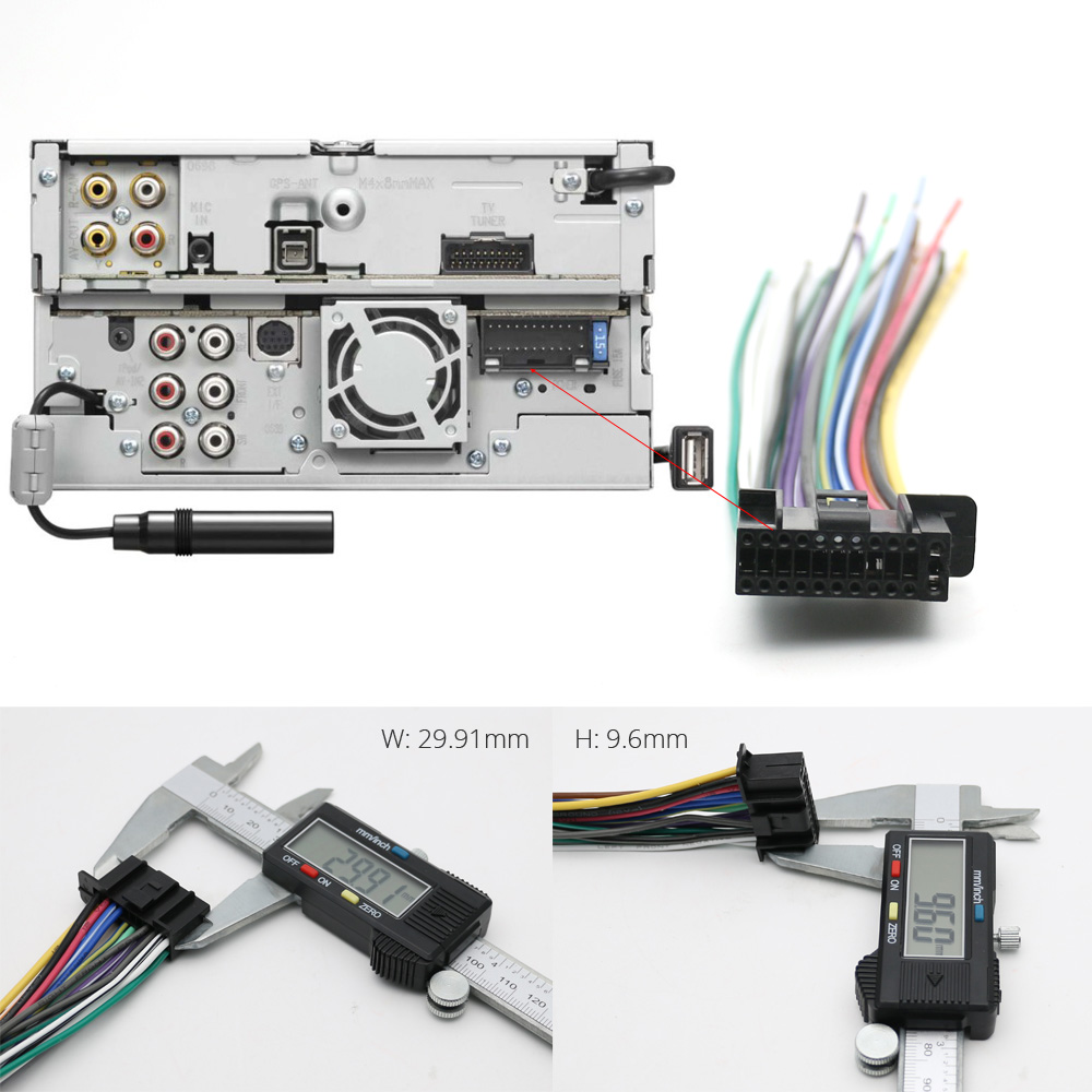 Car Stereo Radio Wiring Harness Wire Connector Adapter Cable For Packaging If You Are Installing An Aftermarket In Your Need This All And Wires Labeled With Own Specific Function