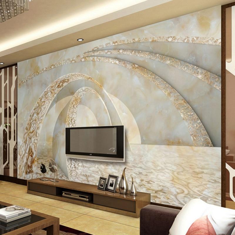 Tapeten Foto Nach Große Wandbilder 3d Stereoskopischen Abstrakte Malerei Für  Wohnzimmer Schlafzimmer TV Sofa Hintergrund Hotel Lobby