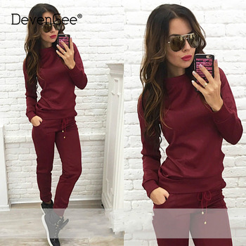Spring Autumn Tracksuits For Women Two Piece Set Sweatshirt Top and Pants