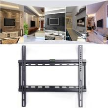 LED LCD TV Wall Mount Bracket Ultra Slim Plasma Tilted Fixed Monitor 26-63 Inch With Spirit Level Strong Capacity stand support