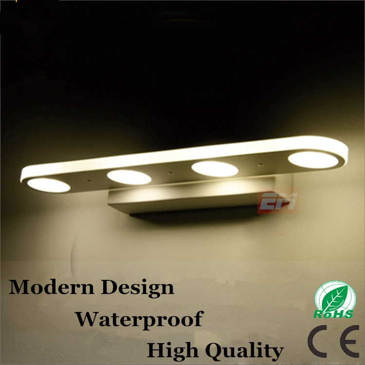 Modern Led Mirror Light 12w/18w Waterproof Wall Lamp Fixture 90~260v Aluminum Wall Mounted Bathroom Lighting Sconce WML005 38cm 58cm led mirror light 12w or 18w waterproof wall lamp fixture ac110v 220v acrylic wall mounted bathroom lighting free ship