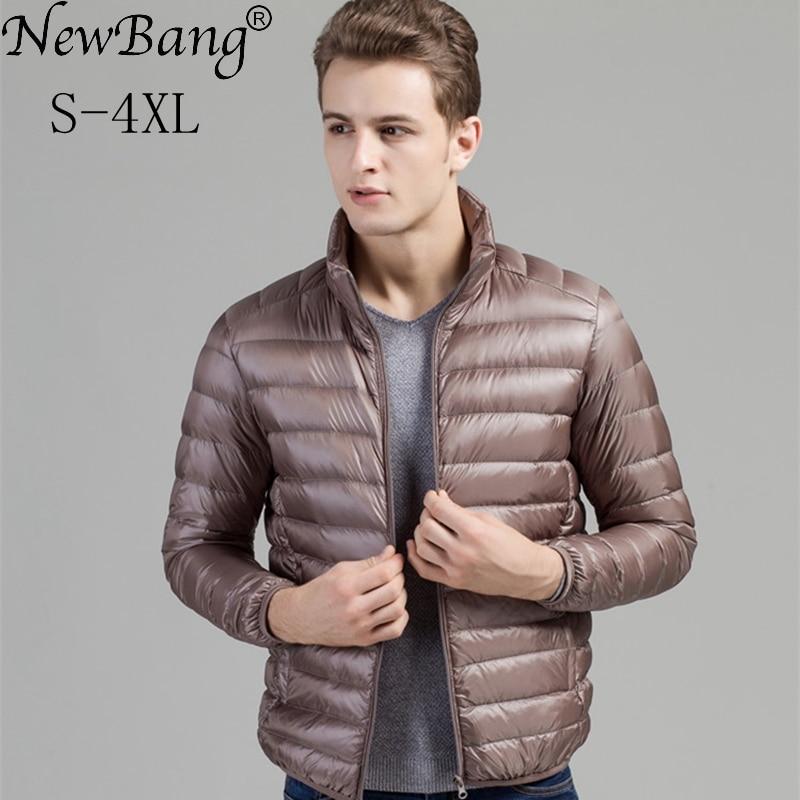 Chaqueta de invierno de marca NewBang chaqueta Ultra ligera para hombre  chaquetas de plumas a prueba de viento para hombre a4efd5e32cc1