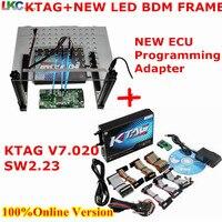 DHL KTAG V7.020 V2.23 + NEUE LED BDM Rahmen ECU Chip Tuning Tool Best ECU Programmierung Adapter Kein Tokens Begrenzte Online Version