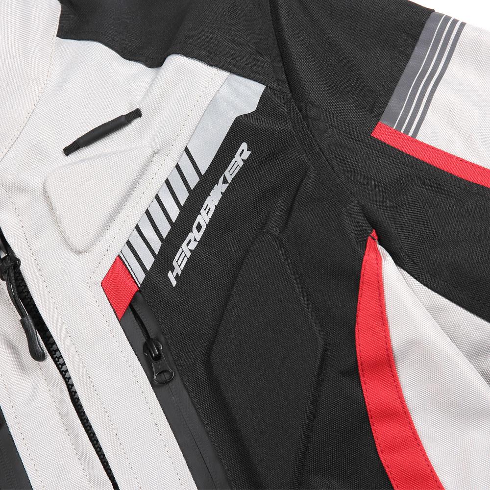 HEROBIKER otoño chaqueta de invierno de la motocicleta impermeable a prueba de viento chaqueta de montar de carreras de Moto ropa de protección - 5