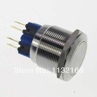 25 мм OD 2 NO 2 NC Мгновенный кнопочный переключатель 8 Pin TerminalsTerminals водонепроницаемый