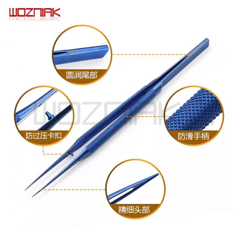 Wozniak Professional Repair Titanium Alloy Fingerprint Tweezers 0.01/0.02 mm BGA Motherboard Maintenance Nipper